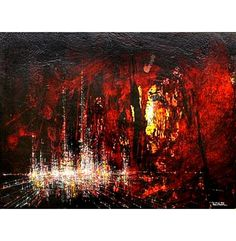 Leonardo Nierman Original Paintings  City Lights