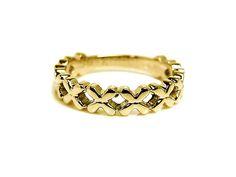 AMBRACE K18 yellow gold ring cross design レディース リング 指輪 クロス デザイン ピンキーリング イエローゴールド
