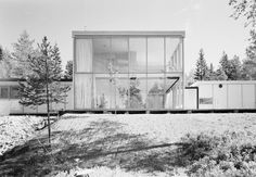 truls teigen… architects arne korsmo and christian norberg-schulz, oslo, 1954 @ vg Contemporary Architecture, Interior Architecture, Interior And Exterior, Fiordo De Oslo, Plan Maestro, Awsome Pictures, Arch House, Architectural Section, Architect Design