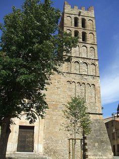La cathédrale Sainte-Julie-et-Sainte-Eulalie d'Elne est le siège de l'évêque d'Elne dont le diocèse recouvrait les comarques de Catalogne du Roussillon, du Vallespir et du Conflent à sa création en 571. Elle domine la ville et ses environs depuis l'éminence sur laquelle elle est bâtie, aujourd'hui « ville haute ». Construite aux XIe et XIIe siècles, monument majeur de l'art roman catalan, elle fut le siège de l'évêché de cette partie septentrionale de la Catalogne du VIe siècle jusqu'en 1602