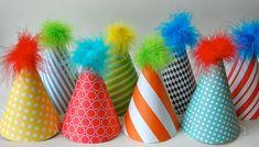 Divertidos gorros de papel, conoce más manualidades para cumpleaños en http://mipagina.1001consejos.com/profiles/blogs/5-fantasticas-manualidades-para-cumplea-os