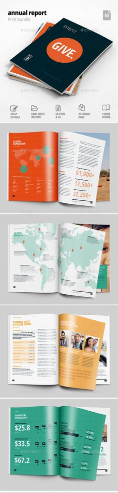 Check out this @Behance project  - professional report template