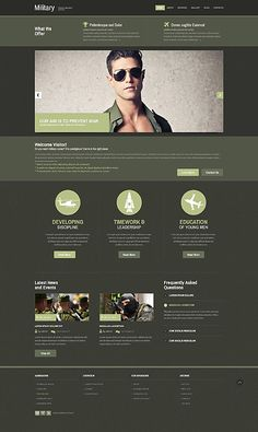 Military website inspirations at your coffee break? Browse for more Responsive JavaScript Animated #templates! // Regular price: $75 // Sources available: .HTML,  .PSD #Military #Responsive JavaScript Animated