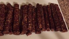 """A """"how to"""" video on making venison sausage. Includes some helps, tips, and suggestions if you plan to try making your own venison sausage. Salami Recipes, Charcuterie Recipes, Kale Recipes, Pork Recipes, Venison Sausage Recipes, Homemade Sausage Recipes, Sausage Sticks Recipe, Chorizo, How To Make Sausage"""