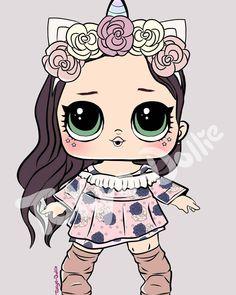 lol dolls - Results For Yahoo Image Search Results Chibi Kawaii, Doll Drawing, Beautiful Unicorn, Doll Party, Lol Dolls, Cute Illustration, Illustration Fashion, Cute Drawings, Cute Art