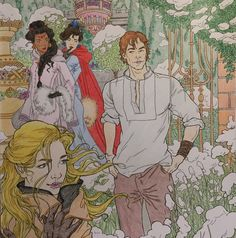 "vukica10: ""Celaena and Chaol - TOG coloring book "" YAAAAAS!!!!"