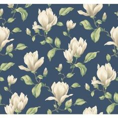 Weighted heavy magnolia blossoms on stout branches form an allover oversized print with a gentle texturing effect. Boldly beautiful, with subtle unexpected color detailing within each magnolia's petals,