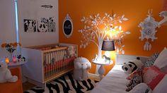 Combinaison orange - noir - blanc