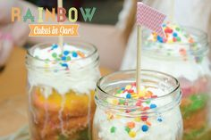 Rainbow Cakes in Jars Baking DIY #TheDustyFoxx