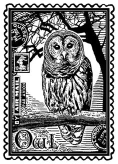 Shop for Crafty Individuals Unmounted Rubber Stamp Pkg - Airmail Owl. Get free delivery On EVERYTHING* Overstock - Your Online Scrapbooking Shop! Estilo Harry Potter, Theme Harry Potter, Owl Always Love You, Owl Art, Stamp Collecting, Poster, Bird Feathers, Postage Stamps, Hogwarts