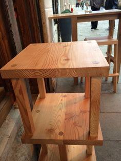 Wooden stool in Vero Vino Wine Bar in Venice.