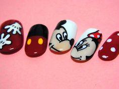Mickey and Minnie Nail Art