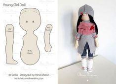 Tilda doll Nursery doll Fabric doll Puppen Interior doll Textile doll Handmade doll Bonita doll Brown doll Cloth doll Bambole by Tanya E Doll Crafts, Diy Doll, Doll Clothes Patterns, Sewing Patterns, Doll Tutorial, Tutorial Sewing, Sewing Dolls, Soft Dolls, Diy For Girls