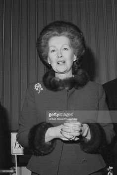 Raine Spencer, Countess Spencer, stepmother of Diana, Princess of Wales, pictured in London on 30th January 1984.