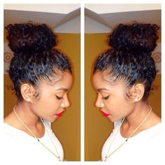 Everyone loves a cute bun that safely tucks away your ends. #ProtectiveStyles