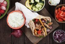 Gyros kotopoyloy me chiropoiiti pita Chicken Doner, Street Food, Tacos, Appetizers, Mexican, Ethnic Recipes, Google Search, Meat, Pies