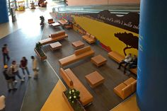 """Restyling relax area """"Shopping Centre Auchan Napoli"""" Italy by Tecnostudio"""