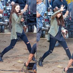 Elizabeth Olsen on CAPTAIN AMERICA: CIVIL WAR Set