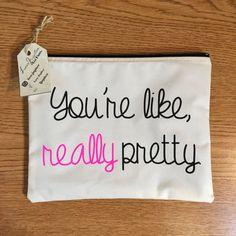 you're like really pretty makeup bag cosmetic bag