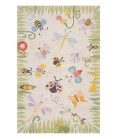 Lovebugs Rug by Lil Mo by Momeni Rugs #zulily #zulilyfinds