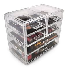 International Acrylic Drawer Makeup Organizer with Removable Drawers