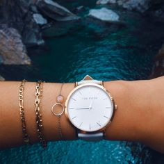@leilajoy_ wearing our SoHo timepiece in grey from the New York Classic collection | #TheFifthWatches