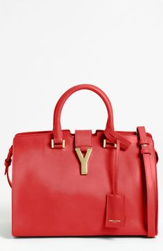 6cc0b8dabd2c Saint Laurent  Petite Ligne Y  Leather Tote