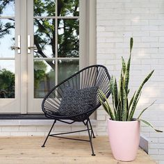This acapulco chair (in 11 different colors!) is the perfect Sunday perch.   on sale today ONLY for 20% off via link in our bio!  @nalleshouse #furnituredesign