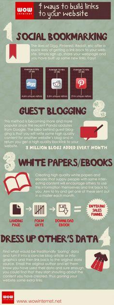 4 maneras de crear links a tu web #infografia #infographic #internet #marketing