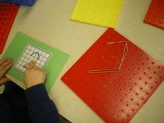 Geoboard Math Work Stations