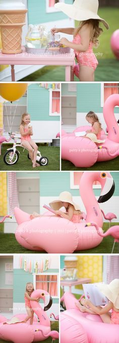 Flamingos and Sprinkles | Imagination Session | Fayetteville, NC Photographer | Patty K Photography