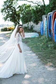 Shooting - Mariage Mathilde & François  ▿ Robe & voile : @margauxtardits Crédit photo : @louisegarin