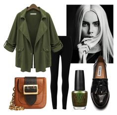 Khaki and black by stefania-fornoni on Polyvore featuring polyvore, fashion, style, Max Studio, Steve Madden, Burberry and OPI