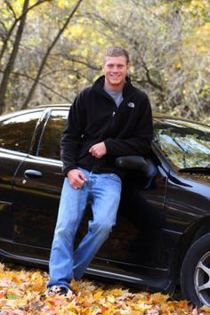 Outdoor Senior Portait with his car