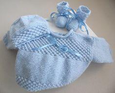 Retrouvez en téléchargement les Explications Tuto - tutoriel de cet ouvrage bébé, layette tricot laine fait main sur Bleublancneige http://www.bleublancneige.com/
