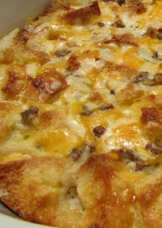 Sausage Gravy #Breakfast Casserole recipe