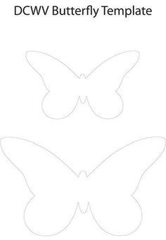 Ideas para el hogar: Plantillas para mariposas de fieltro varios modelos