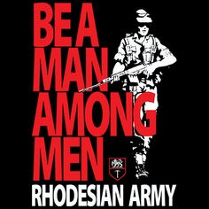 Recruiting poster of the Rhodesian Army.
