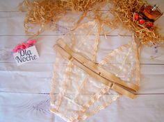 Beige underwear // Handmade lingerie // Handmade bra set // Bralette set//Lace lingerie //Lace triangle bra // Sexy lingerie
