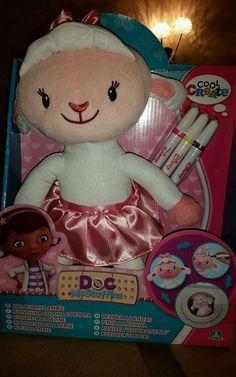 Doc McStuffins Colour Me Lambie NEW reduced was £24.99 box not perfect as photos