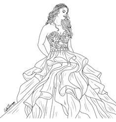 17 Melhores Imagens De Desenho De Vestido Desenhos De Vestidos