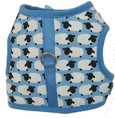 Shaun the Sheep Dog Puppy Harness Cat Harness Vest Turquoise XSmall Size * Click image for more details.