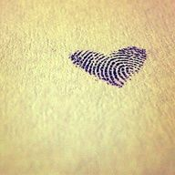 Fingerprint heart tattoo...