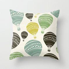 Balloons Throw Pillow by spinL