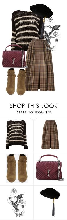 """""""boots"""" by masayuki4499 ❤ liked on Polyvore featuring Yves Saint Laurent and Emily Carter"""