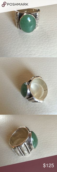 Aventurine and silver ring Size 7 Colorado designer Jewelry Rings