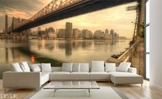 Fotografisches Fenster Auf New York   Fototapeten Brücken   Fototapeten