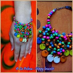COLORFUL HIPPIE BRACELET, Boho, Hippie Chic, 2014 Summer night accessory, Colorful bead tassels