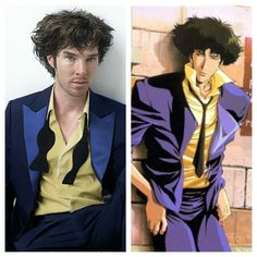 What is going on here! Benedict Cumberbatch and Spike from cowboy bebop?  Whoa!