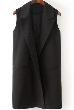 Black Lapel Sleeveless Pockets Blazer 2600 Rmelloser Tuxedo Vest